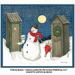 Winter Outhouses Shower Curtain